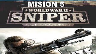 WORLD WAR 2 SNIPER CALL TO VICTORY GAMEPLAY COUNTRYSIDE MISION 5 RZGAMER23