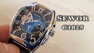 Sewor automatic watch C1025 review #97