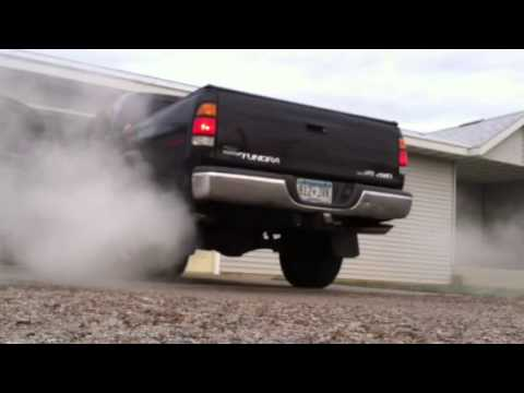 2000 Toyota tundra 4.7L V8 true dual cat back exhaust - YouTube