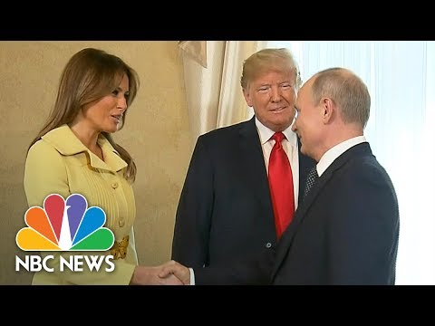 President Trump Introduces First Lady Melania To Vladimir Pu