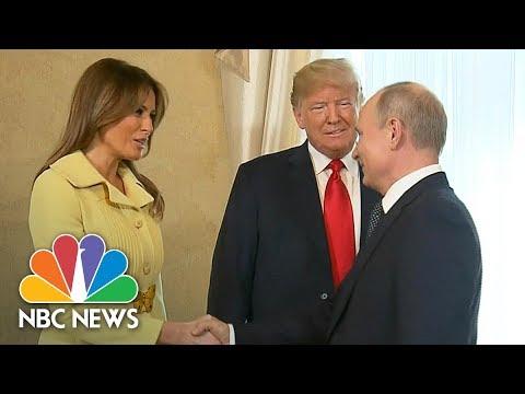 President Trump Introduces First Lady Melania To Vladimir Putin At Helsinki Summit   NBC News