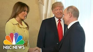 President Trump Introduces First Lady Melania To Vladimir Putin At Helsinki Summit | NBC News
