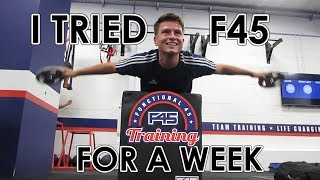 I tried F45 for a week - here's what happened