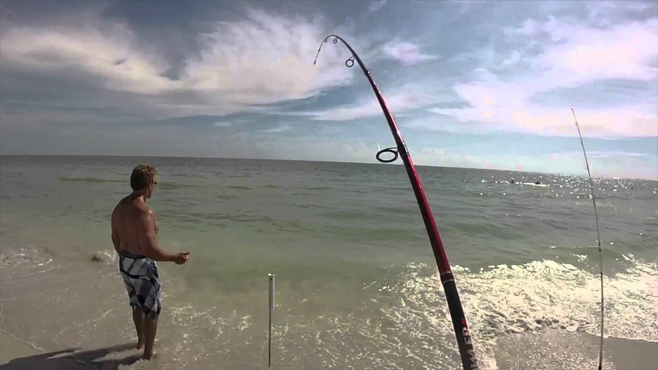 Surf fishing in florida youtube for Beach fishing florida