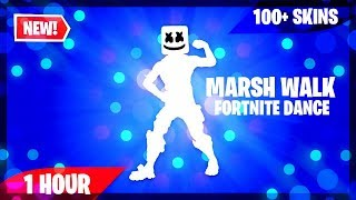 FORTNITE MARSH WALK EMOTE (1 HOUR) (100+ SKINS) (MUSIC DOWNLOAD INCLUDED!)