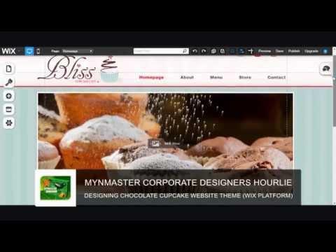 DESIGNING CHOCOLATE CUPCAKE WEBSITE THEME WIX PLATFORM