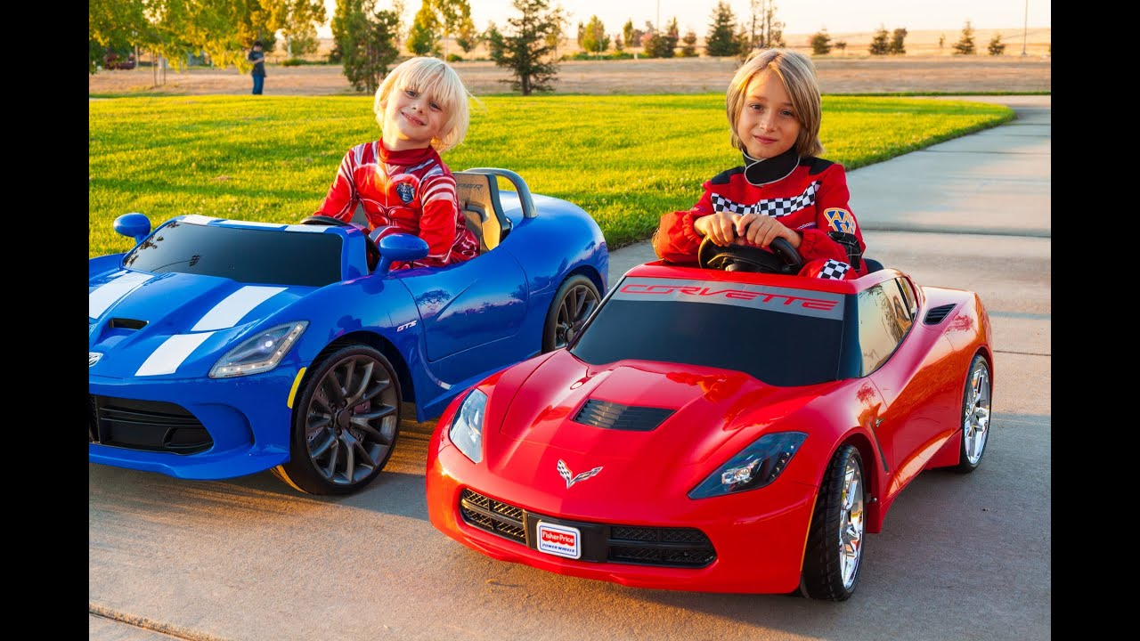 kid trax srt viper vs power wheels corvette stingray youtube