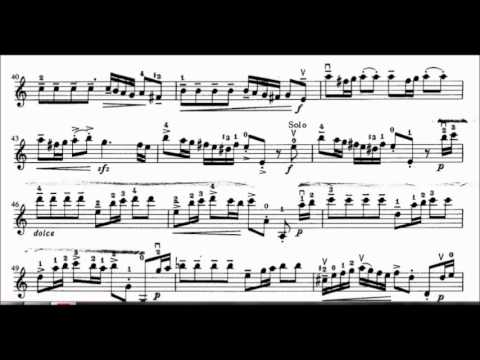 Vivaldi Concerto in A Minor first movement violin sheet music