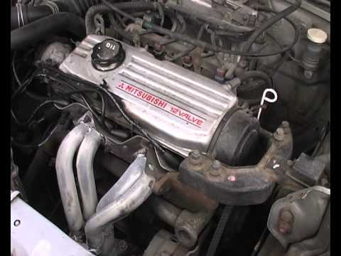 1990 Mitsubishi Lancer 4G15 12V cold start  YouTube