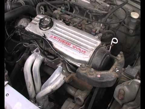 1990 mitsubishi lancer 4g15 12v cold start youtube rh youtube com Mitsubishi Sirius Engine Mitsubishi 4G93 Engine