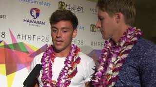 Cover images Interview with Dustin Lance Black and Tom Daley at HRFF28