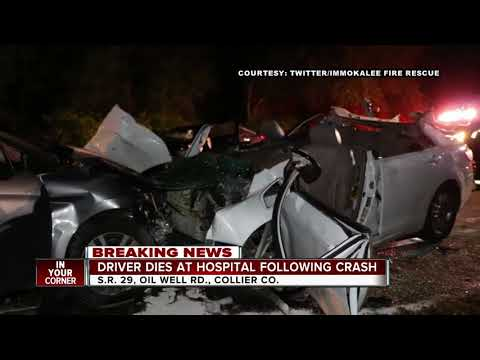 One driver dead after 3-car crash on State Road 29 in Collier County
