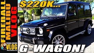 $220K G65 MERCEDES GWAGON ACTION REVIEW! - FIREBALL MALIBU VLOG 249