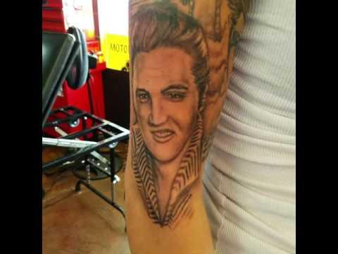 Elvis Presley portrait.