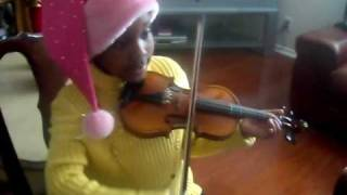 Clacey playing Jingle Bells on Violin Kids/Children