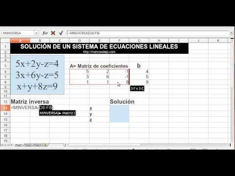 Solución de sistemas de Ecuaciones Lineales - Usando Hoja de Cálculo ...