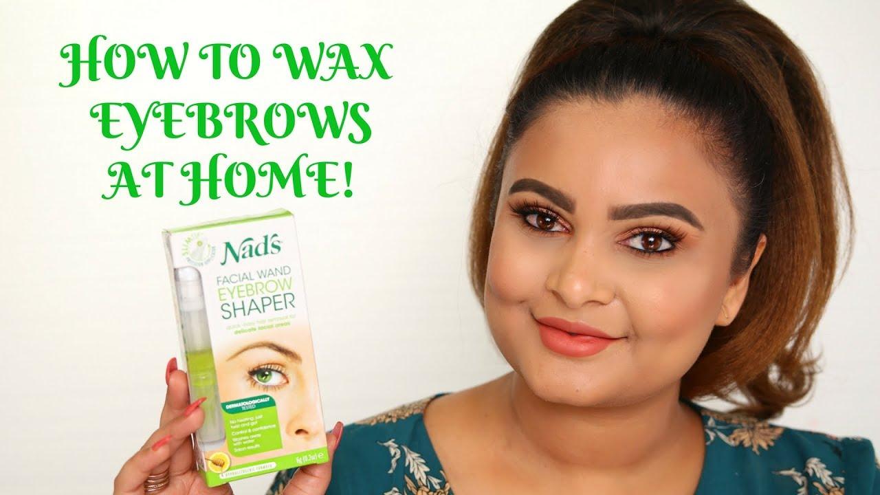How I Wax My Eyebrows Face At Home Nads Facial Wand Eyebrow