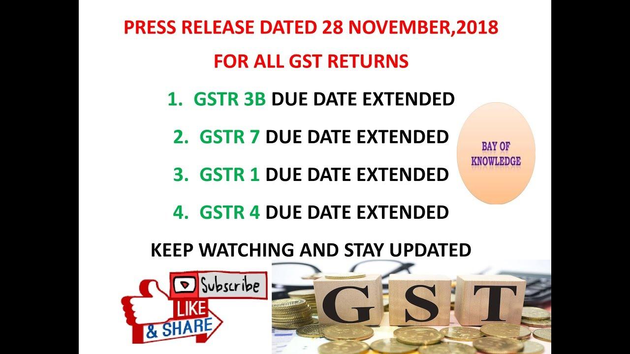 GST RETURN DATE EXTENDED - PageBD Com