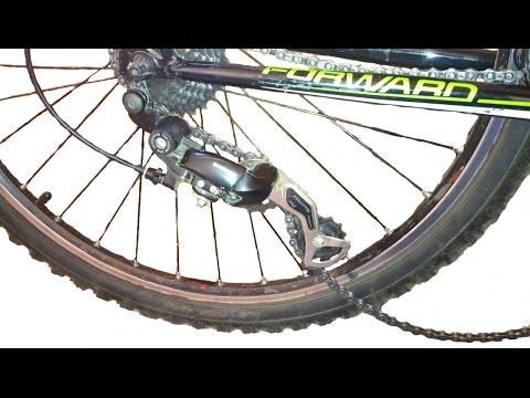 Задний переключатель на велосипед не натягивает цепь, причина