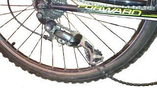 Задний переключатель на велосипед не натягивает цепь, причина(Мой ВК https://vk.com/id263241899 Полезные видео с моего канала, о ремонте велосипеда. 1) Задняя втулка колеса обслуживан..., 2015-09-29T14:24:38.000Z)