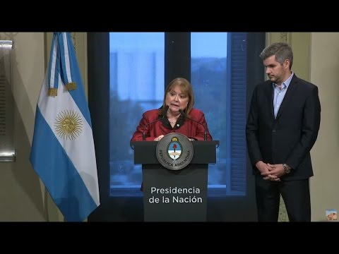 Renuncia la canciller argentina Susana Malcorra