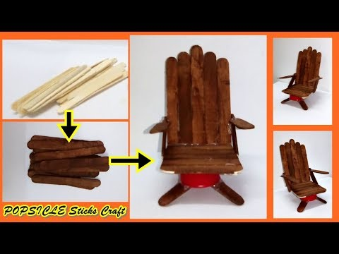Make Boss Chair by using Popsicle Sticks || DIY-Popsicle stick crafts furniture