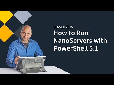 Running NanoServers  on Server 2016 with PowerShell 5.1