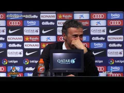 Un periodista se duerme en la rueda de prensa de Luis Enrique... ¡Y así reacciona el técnico!