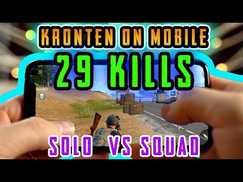 PUBG MOBILE | KRONTEN PLAYING ON MOBILE PHONE 29 KILLS | 🔥SOLO VS SQUAD🔥