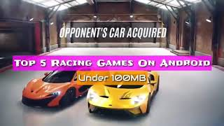 Top 5 Best Racing Games For Android in 2018 [Under 100MB] [Offline] HD Graphics