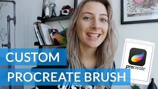 How to Make a Custom Procreate Brush with iPad Pro - Procreate App Tutorial