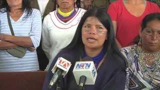 Marcha Indigenas Kichwa Sarayaku en Quito