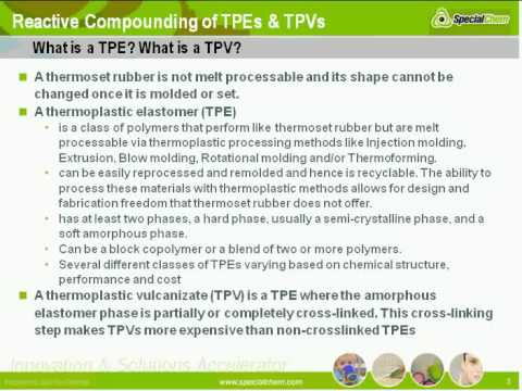 Reactive compounding of TPEs and TPVs - SpecialChem Learning on Demand
