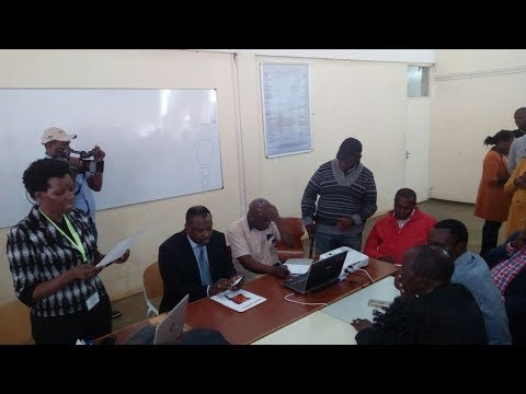 Governor Kabogo storms a meeting convened by IEBC officials and Security personnel