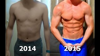 Incredible Body Transformation 1 Year! Dear Hard Work (Calisthenics)