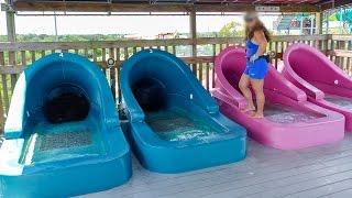 "Adventure Island Tampa - Racer Water Slide ""Riptide"" Onride POV"