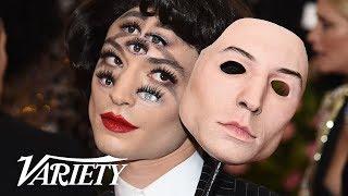 Ezra Miller's Met Gala Mask Costume