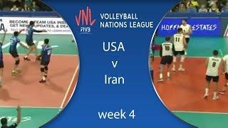 ملخص | الولايات المتحدة وإيران | USA v Iran | Highlights | Week 4 | VolleyBall Nations League 2018