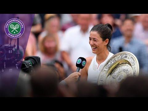 Garbiñe Muguruza Wimbledon 2017 winner's interview