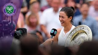 Garbiñe Muguruza Wimbledon 2017 winner's interview