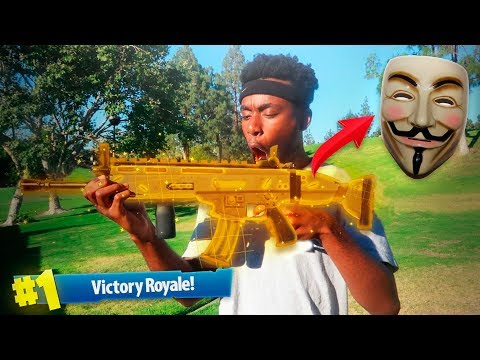 A FORTNITE HACKER SENT ME A LEGENDARY SCAR IN REAL LIFE... WEIRDEST DUOS VICTORY EVER!