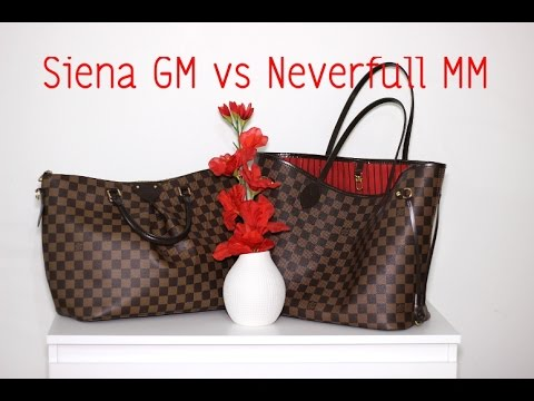 Quick Comparison Louis Vuitton Neverfull Mm Vs Siena Gm Youtube