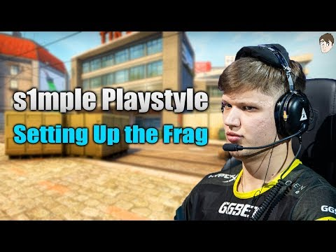 The s1mple Playstyle - Setting up the Frags (Blast Pro Series)