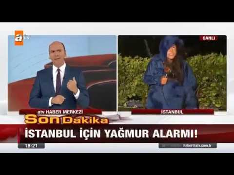 Turkish TV Reporter Battered Under Hail