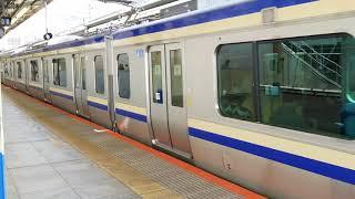 E235系1000番台横クラF-12編成横浜駅発車