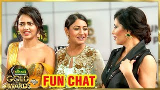 Surbhi Chandna & Tejasswi Prakash Fun Chat | Zee Gold Awards 2018