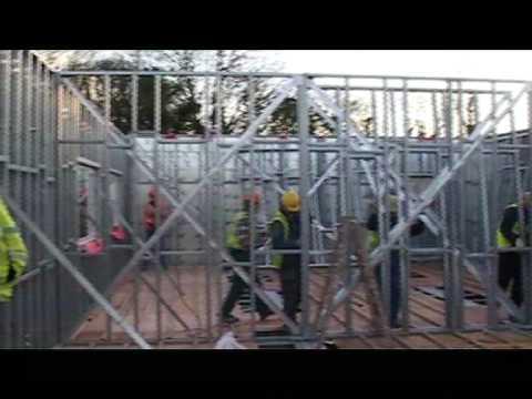 Steel Frame Building System Youtube
