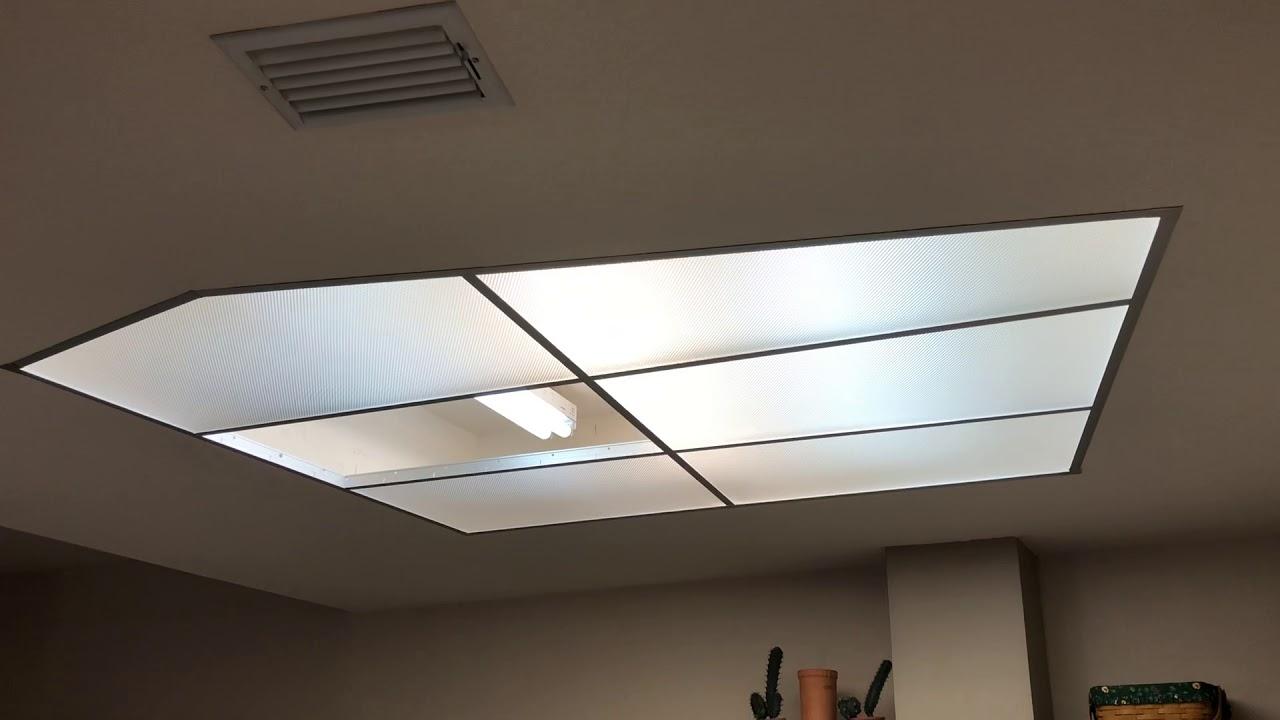 cutting plaskolite optix fluorescent light panels