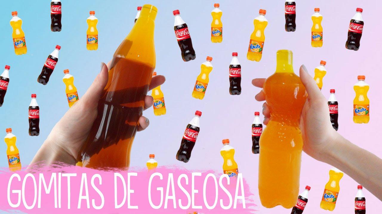 Como hacer gomitas gigantes de Coca Cola y Fanta - Tutoriales Belen