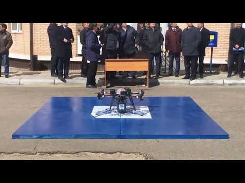 The crash of the first dron for mail delivery in Russia / Крушение  дрона Почты России.